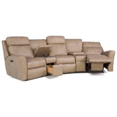 Motorized Sectional Sofa Dfs Recliner Broken Smith Brothers 418 Casual Reclining Conversation