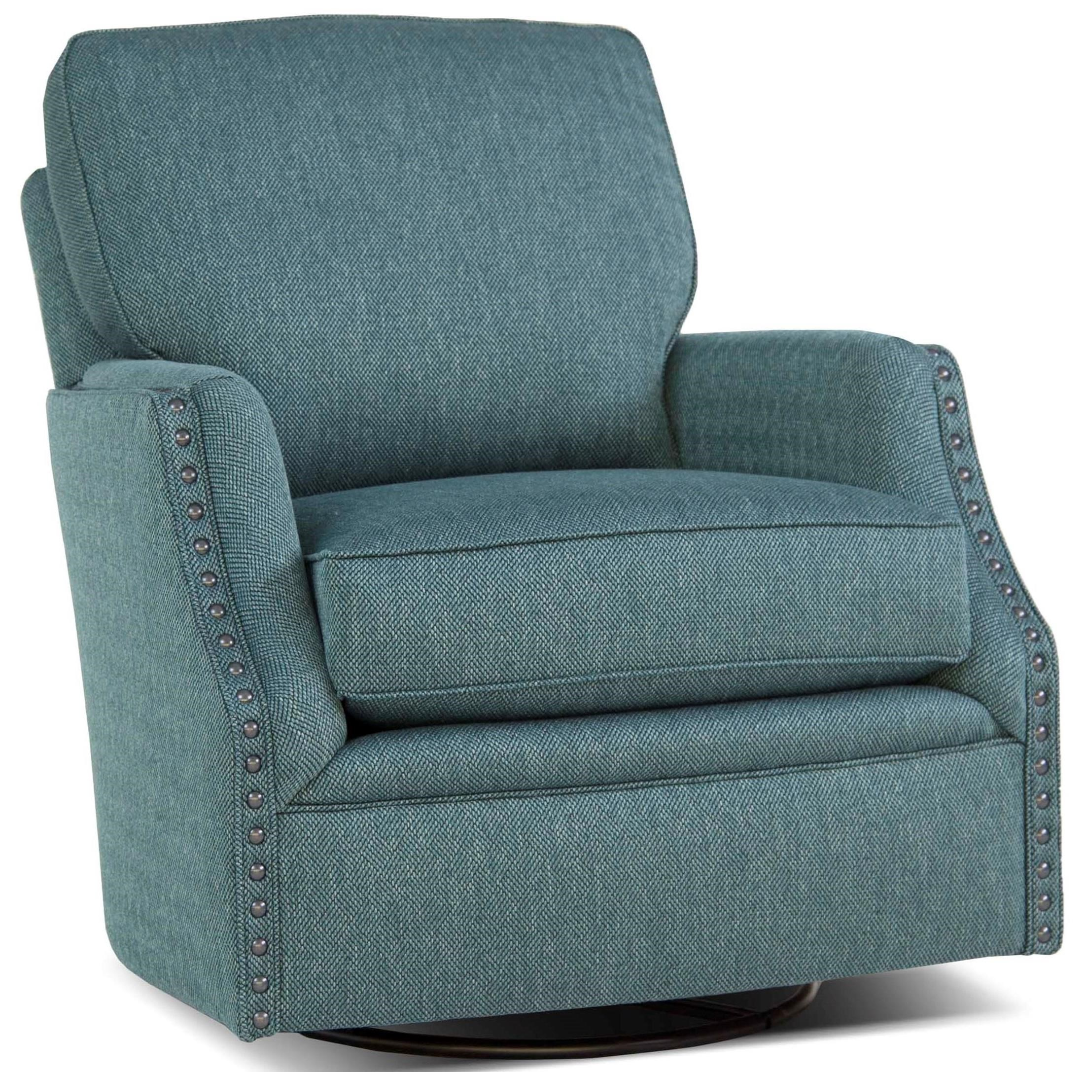 Upholstered Glider Chair Smith Brothers 526 Casual Swivel Glider Chair With
