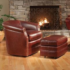 Barrel Swivel Chairs Upholstered Stackable Wicker Smith Brothers Accent And Ottomans Sb 820l 56