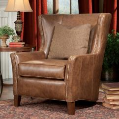 Accent Chairs With Ottoman Leap Chair V2 Smith Brothers And Ottomans Sb Wingback