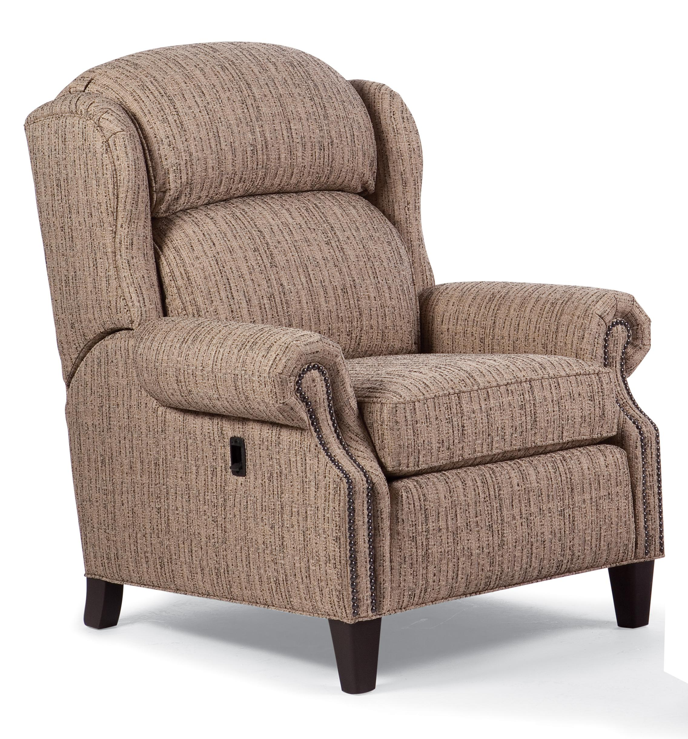 Tilt Back Chair Recliners Traditional Tilt Back Chair With Nailhead Trim