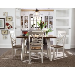 2 Chair Dining Set Wedding Covers Cotton Standard Furniture Amelia Two Tone Table And