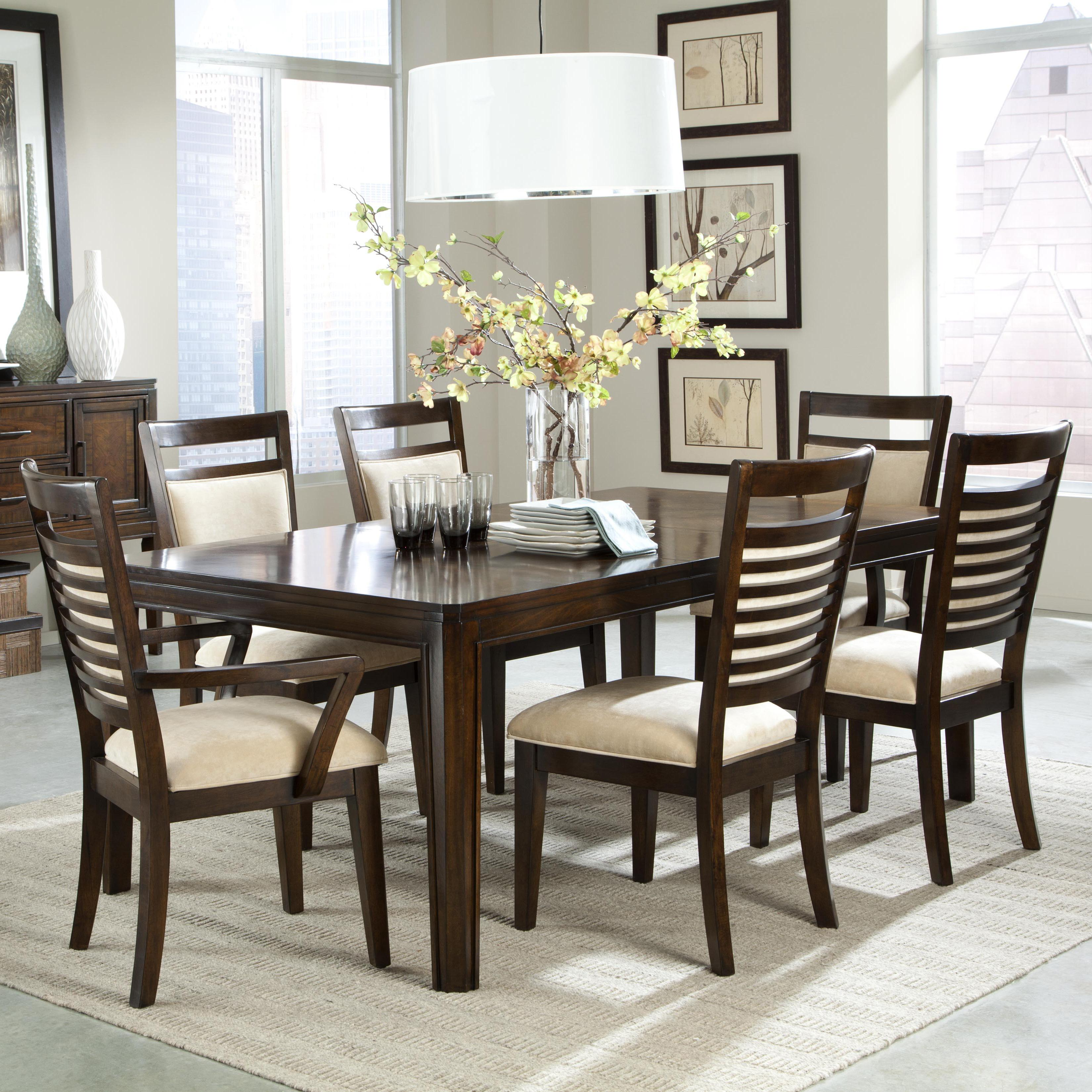 Breakfast Table Chairs Standard Furniture Avion 7 Piece Dining Table Set And