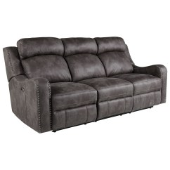 Reclining Sofa With Nailhead Trim Best Sleeper Sofas Queen Standard Furniture Bankston Traditional Power