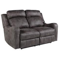 Reclining Sofa With Nailhead Trim Small L Shaped Recliner Standard Furniture Bankston Traditional Loveseat