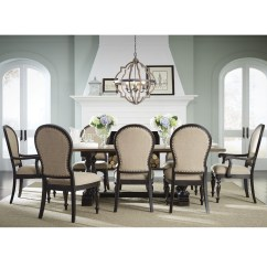Accent Chairs For Dining Room Table Desk Chair Exercise Equipment Standard Furniture Cambria Trestle And Upholstered