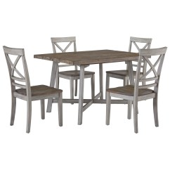 2 Chair Dining Set How To Build A Bailey Standard Furniture Fairhaven 12862 Rustic Two Tone Table