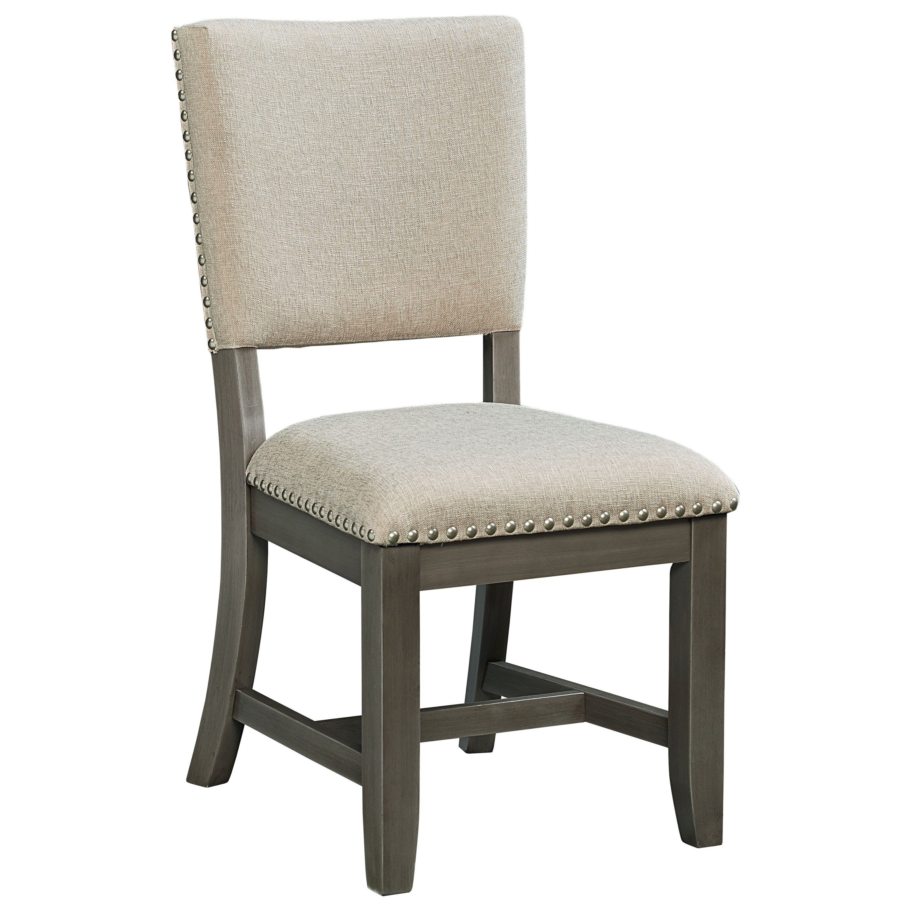 Grey Side Chair Standard Furniture Omaha Grey 16687 Upholstered Side Chair