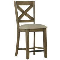 Counter Height Bar Stool with X-Back - Omaha Grey by ...
