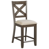Standard Furniture Omaha Grey Counter Height Bar Stool ...
