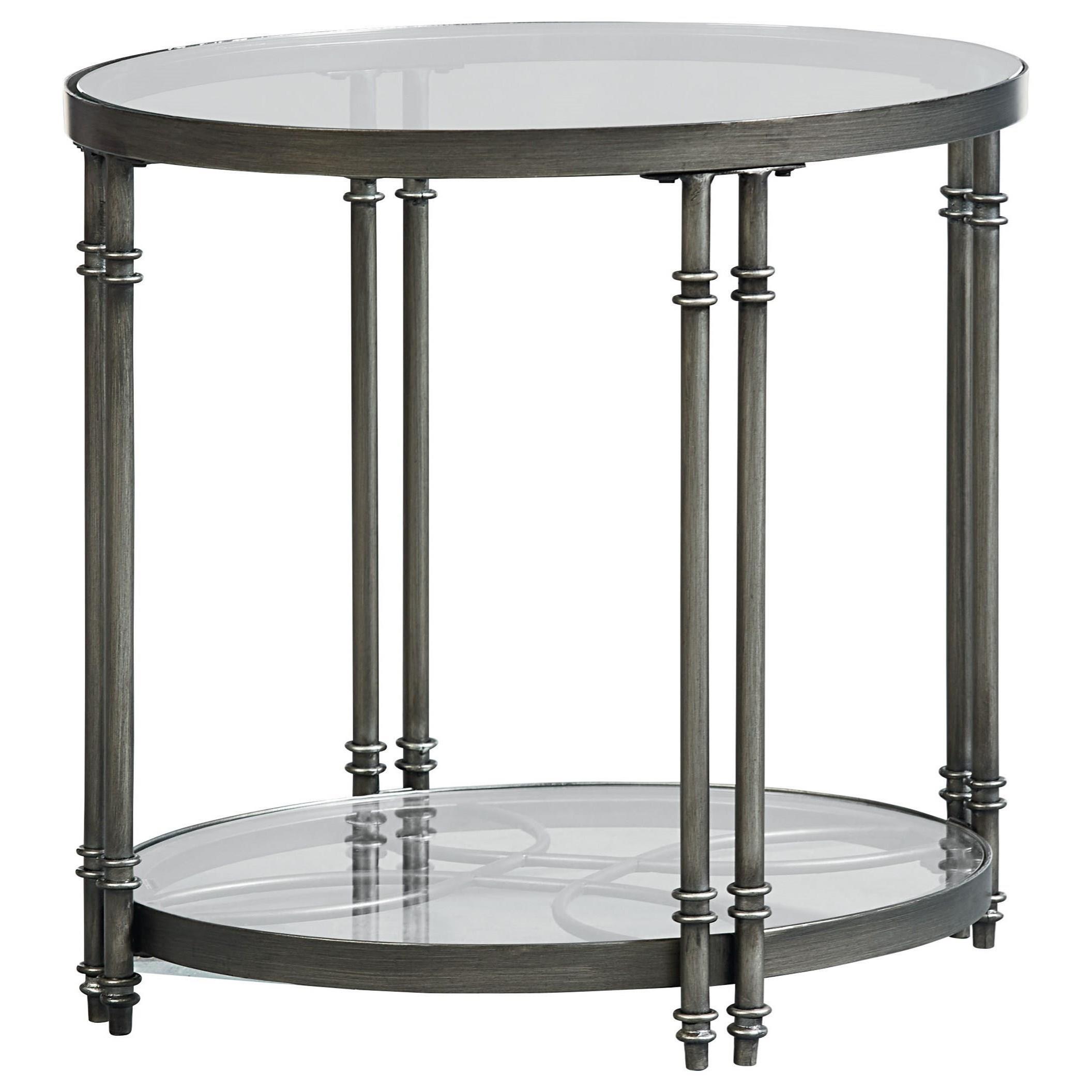 Standard Furniture Terrazza Contemporary Oval End Table