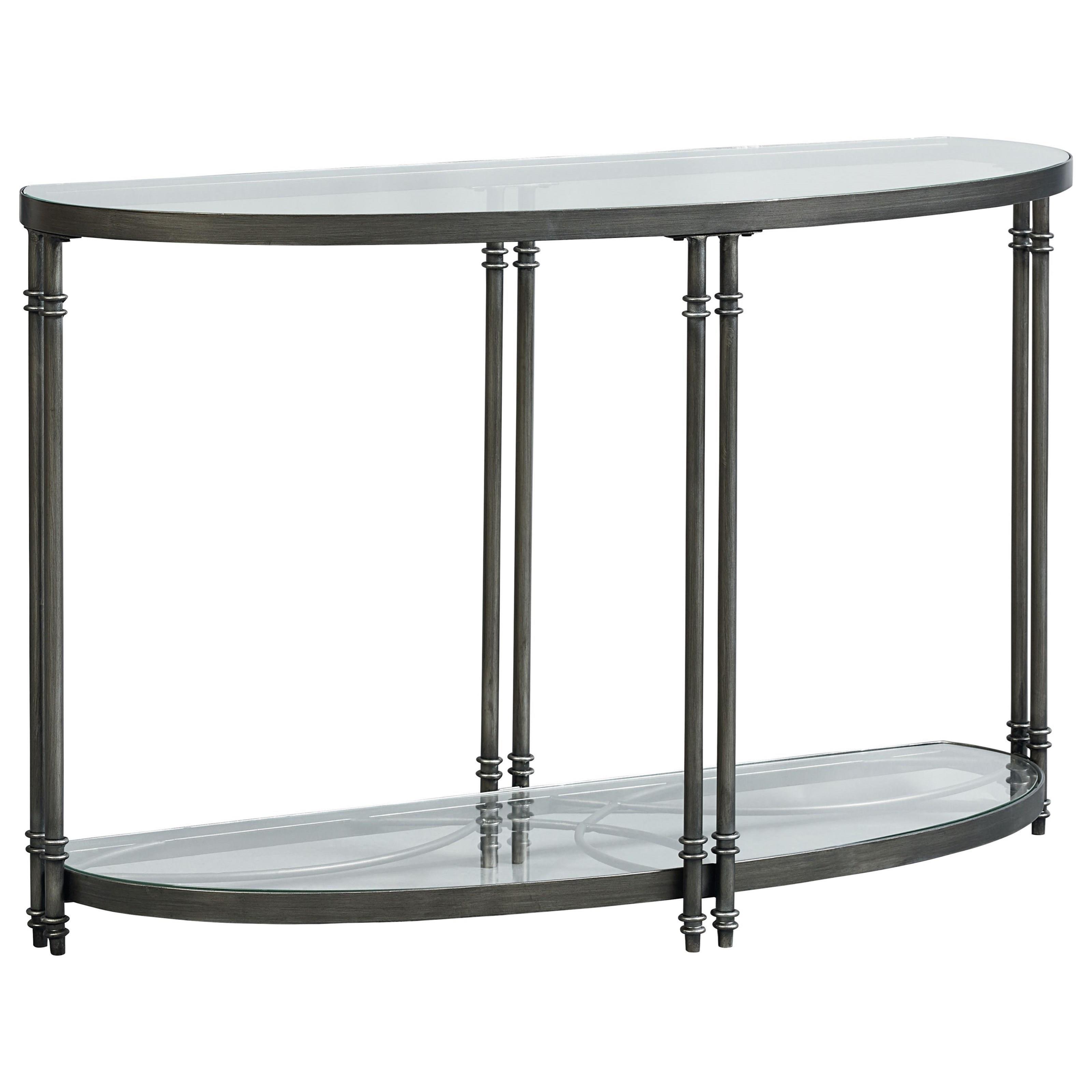 Standard Furniture Terrazza Contemporary Demilune Console
