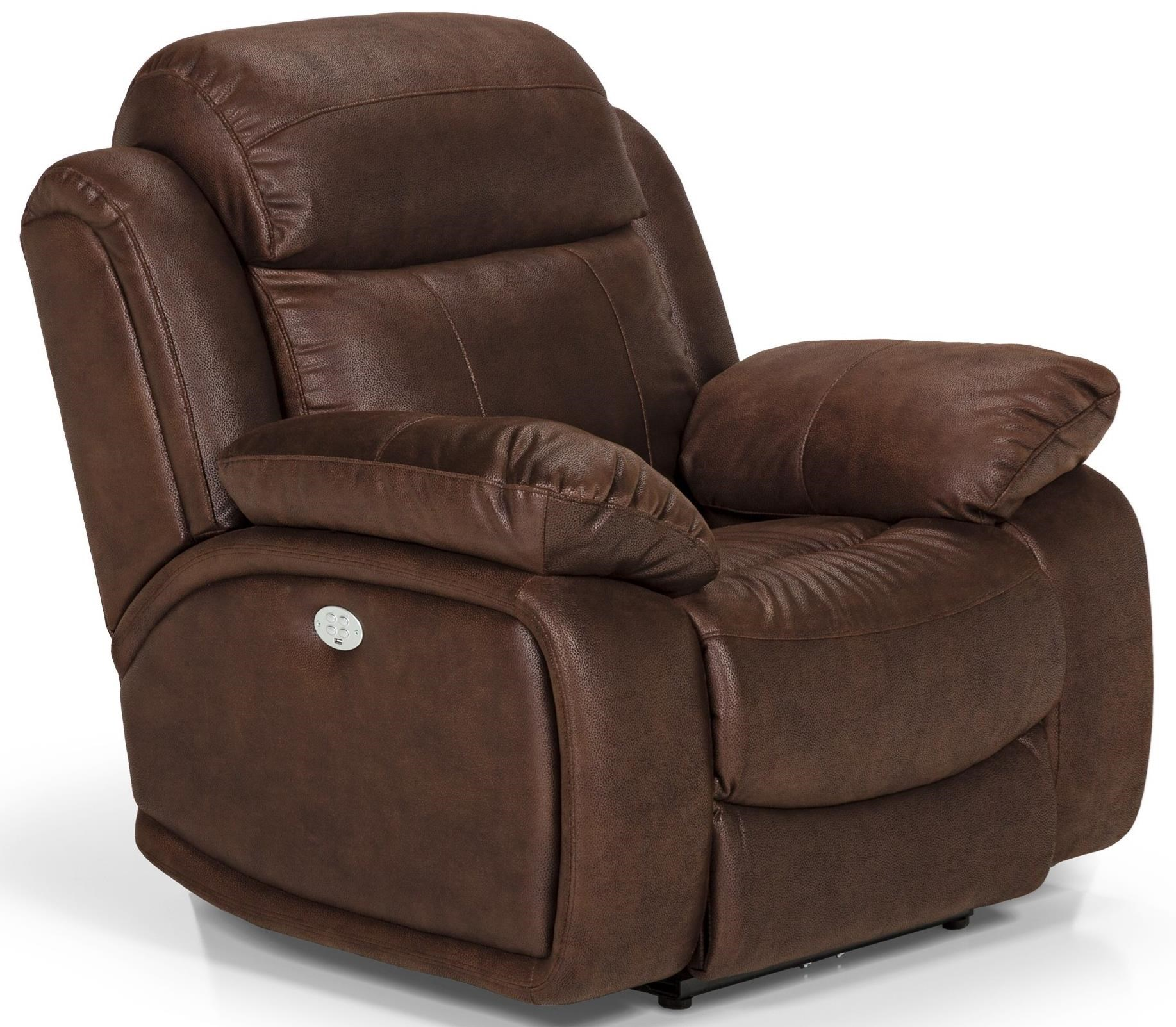 Reclining Chairs Stanton 853 Power Reclining Chair With Power Head Lumbar