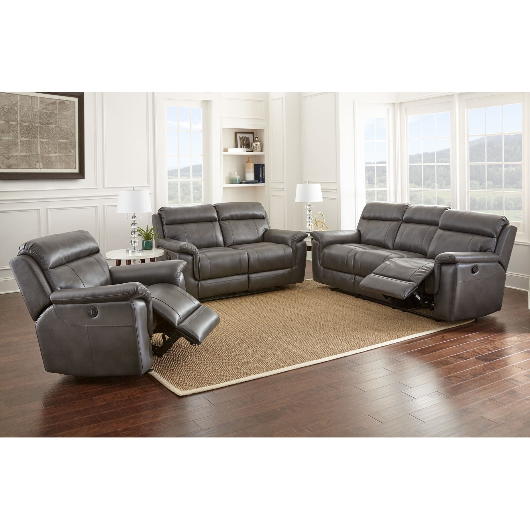 liberty 2 piece sofa and motion loveseat group in grey small armless steve silver dakota lay flat reclining darvin