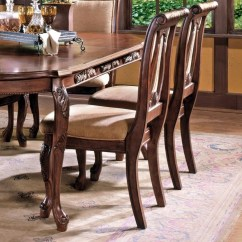 Silver Metal And Wood Dining Chairs Mahogany Chiavari Wedding Steve Harmony Traditional Upholstered Seat