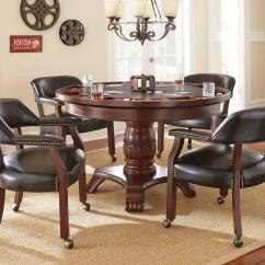 Poker Chairs With Casters Sofa Loveseat And Chair Set Steve Silver Tournament Round Game Table
