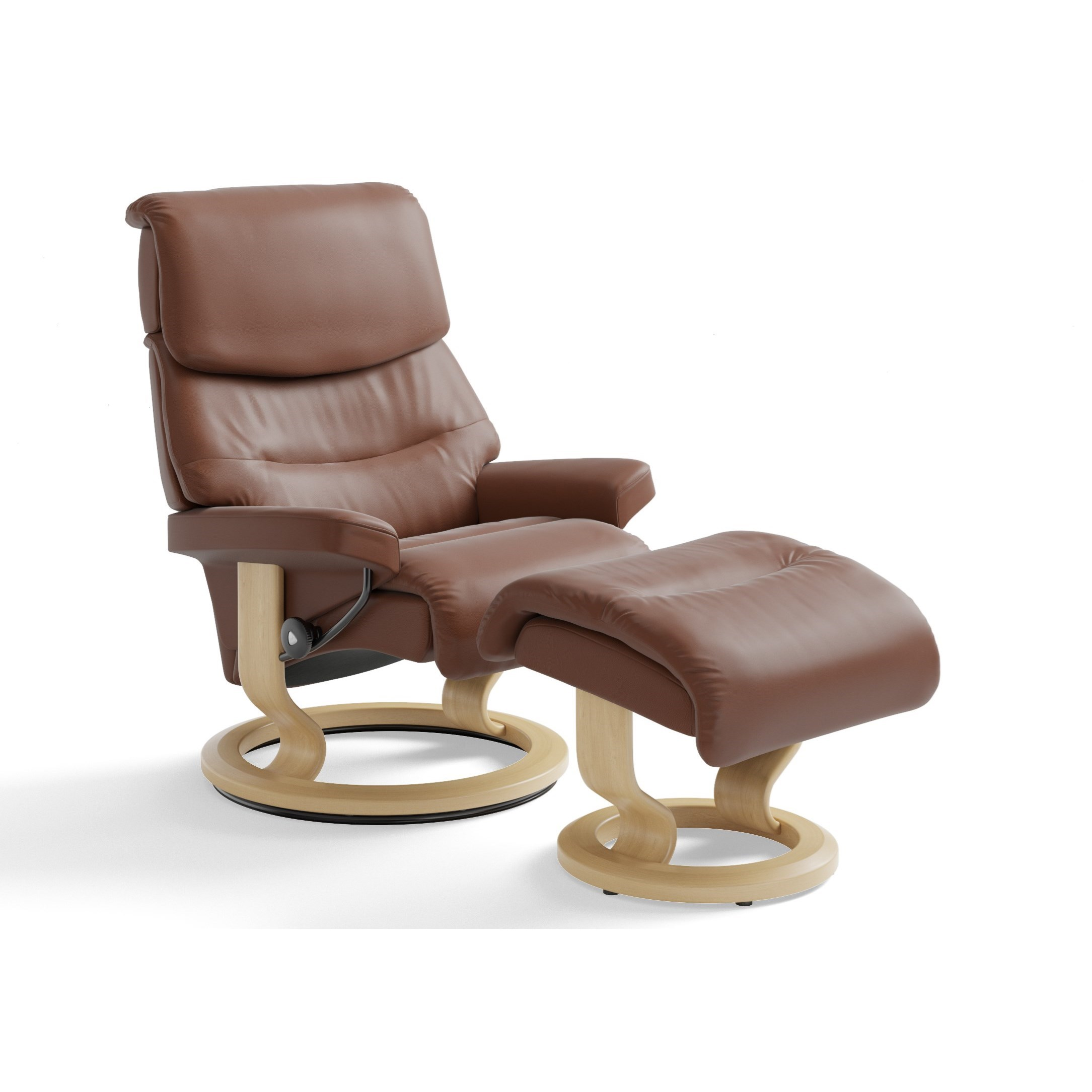 Small Chair With Ottoman Stressless Capri Small Reclining Chair And Ottoman With