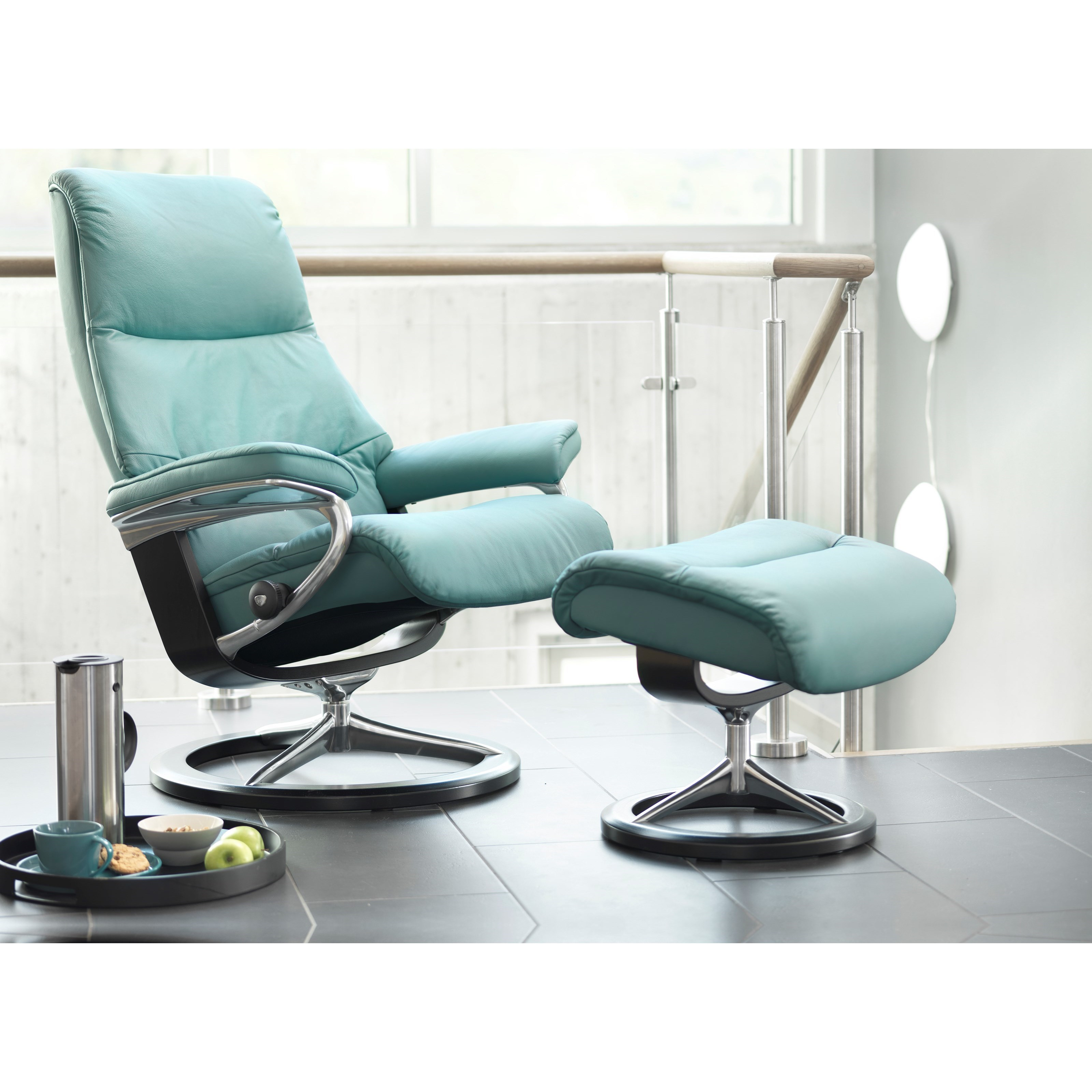 Small Chair With Ottoman Stressless View Small Reclining Chair And Ottoman With
