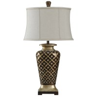 StyleCraft Lamps L39588 Traditional Raise Patterned Lamp ...