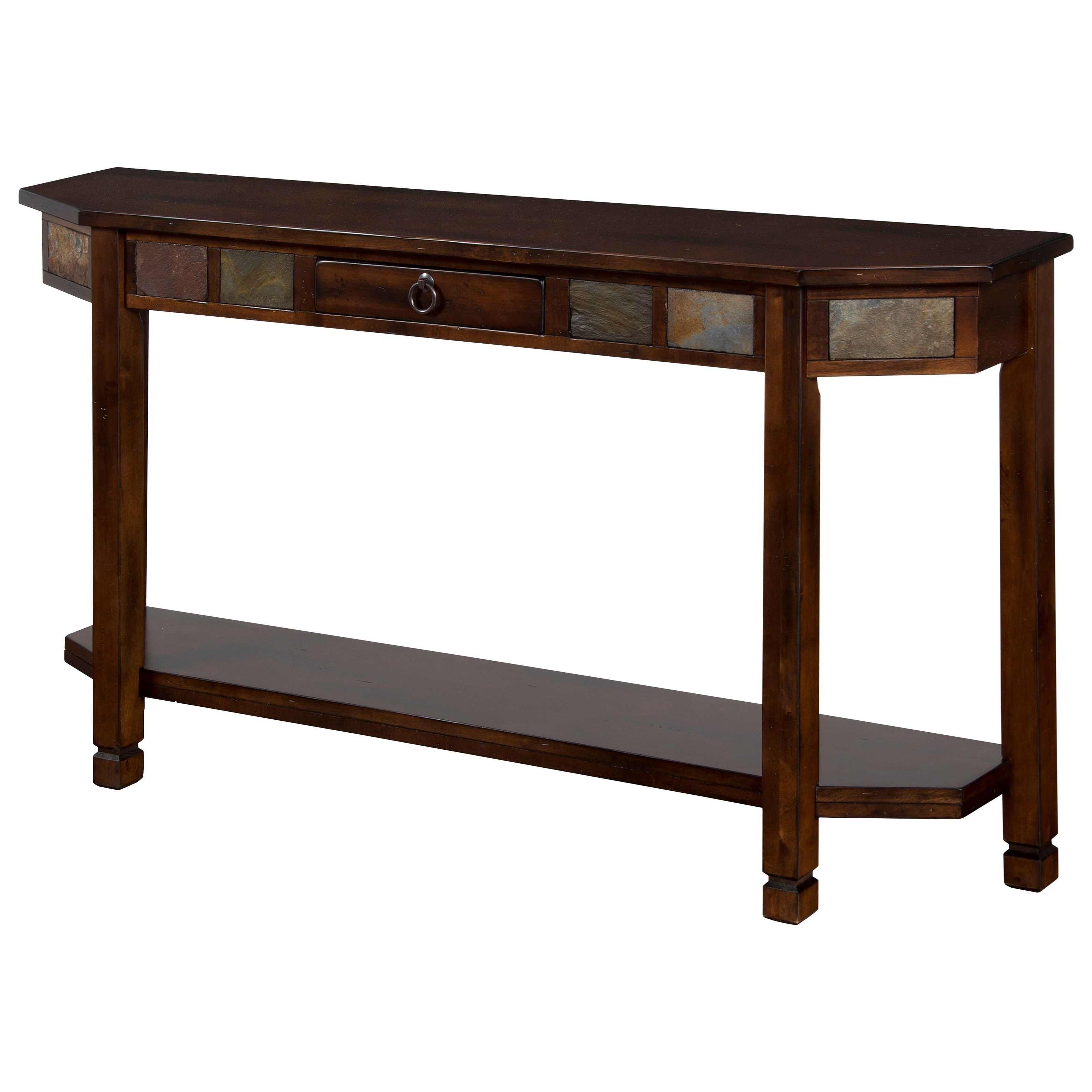 slate sofa table big lots wood back sunny designs santa fe entry console with tiles