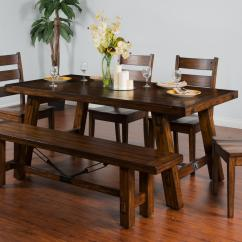 Accent Chairs For Dining Room Table Lowe S Canada Outdoor Lounge Sunny Designs Tuscany Distressed Mahogany Extension