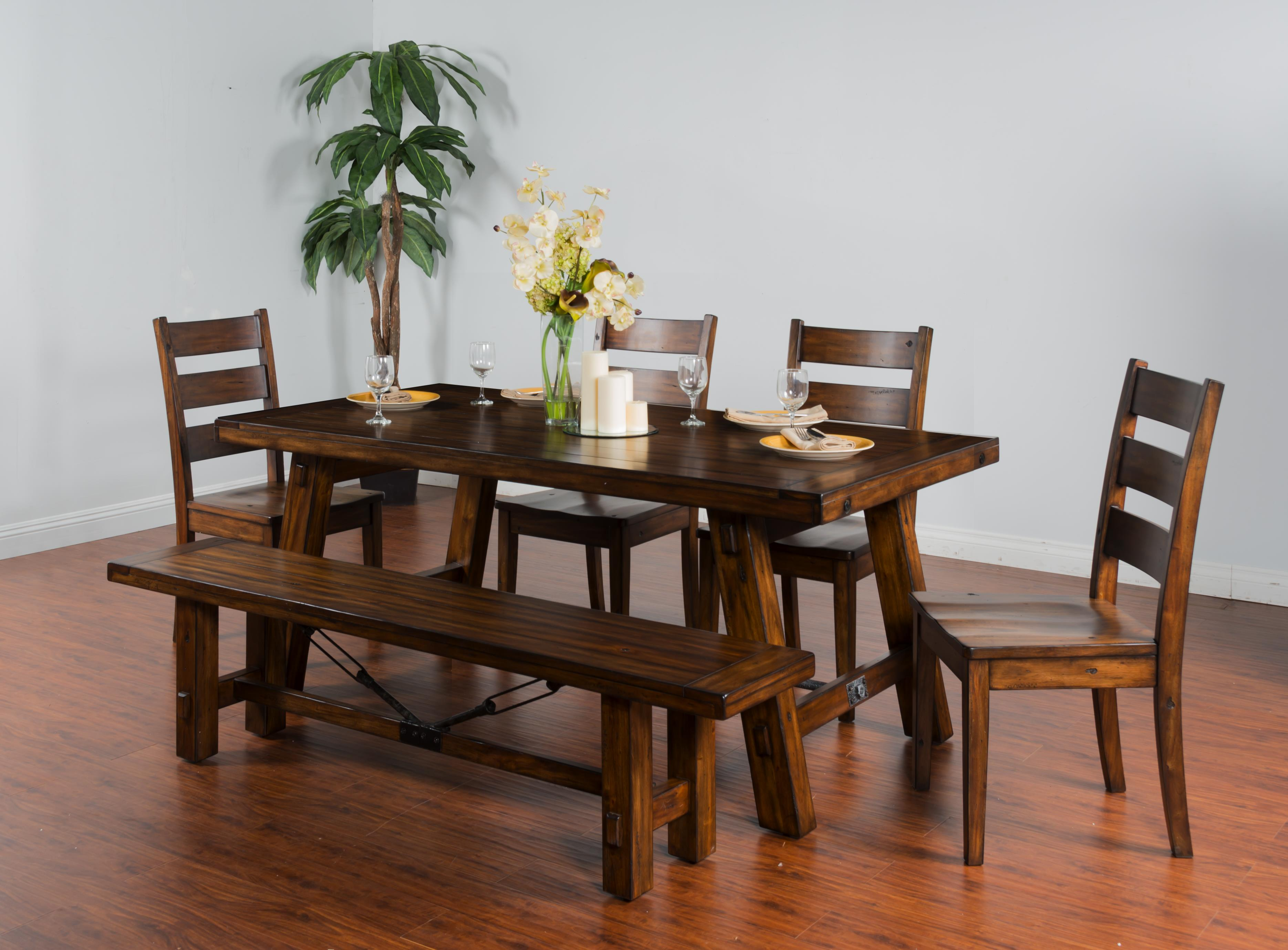 accent chairs for dining room table used no plumbing pedicure chair sunny designs tuscany distressed mahogany extension
