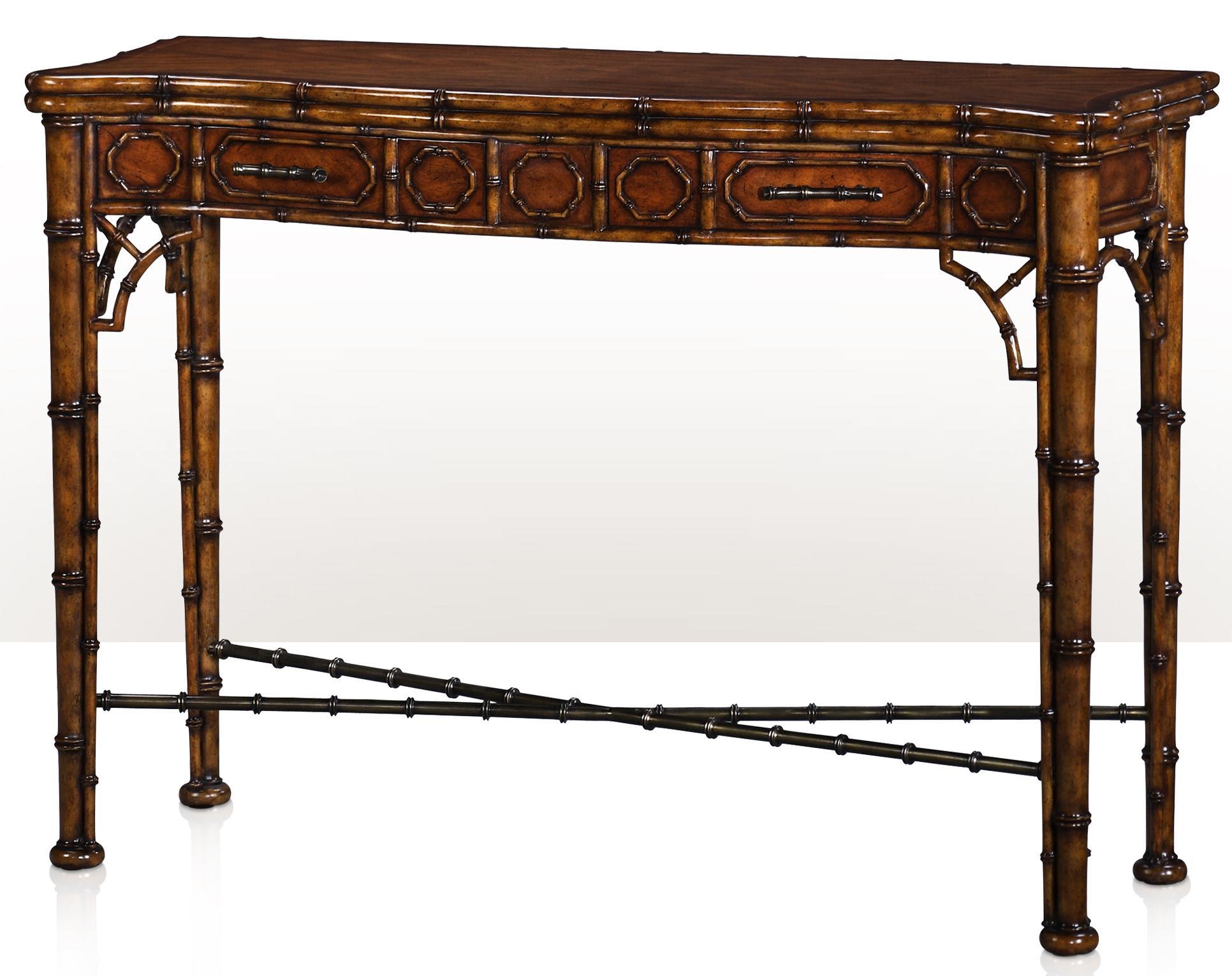 hancock moore chairs shower walmart theodore alexander indochine 5300-138 the edwardian bamboo console | baer's furniture sofa ...