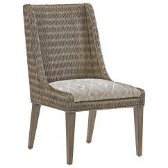Fabric Side Chairs Evenflo Majestic High Chair Cover Tommy Bahama Home Cypress Point Brandon Woven Rattan