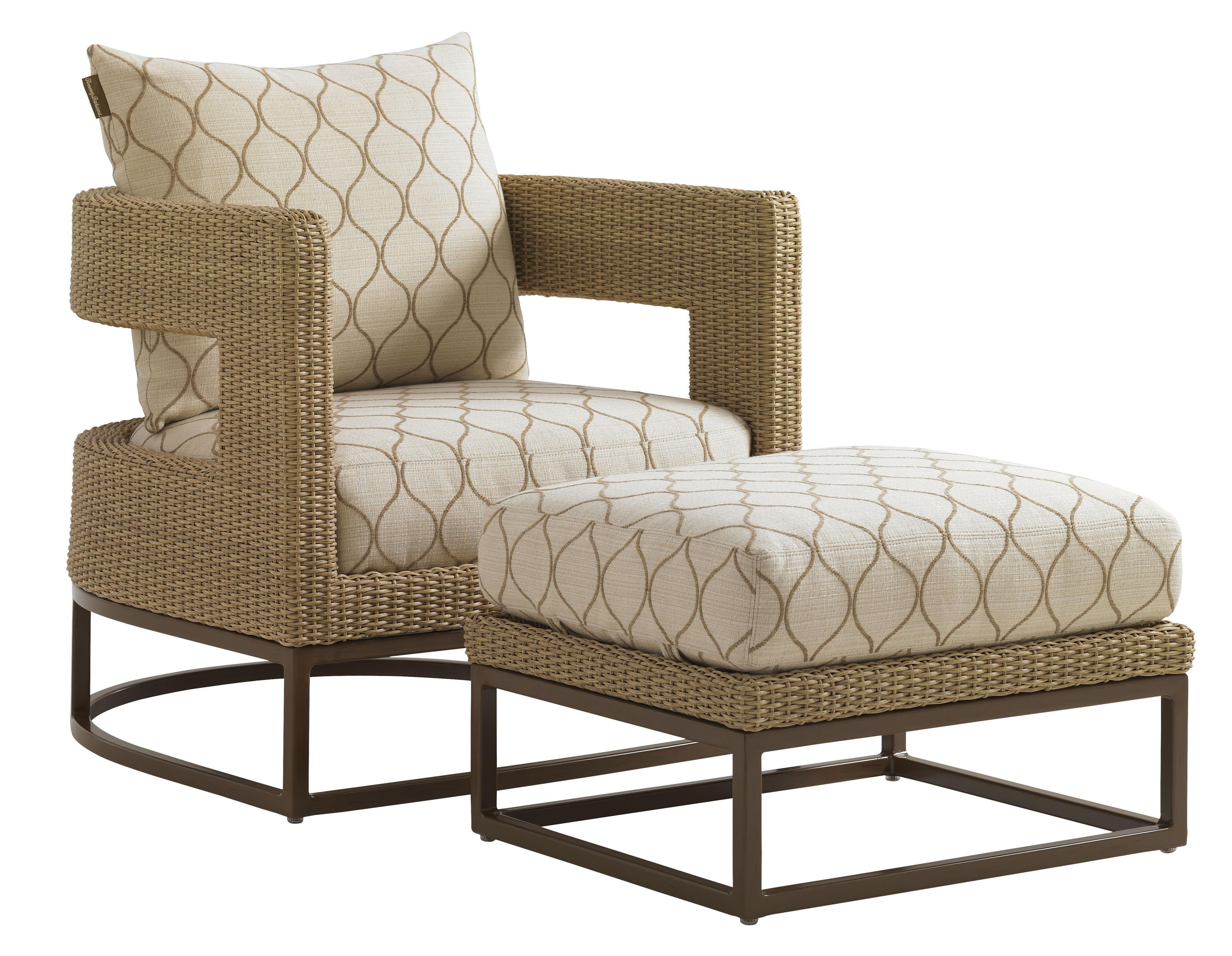 outdoor chair and ottoman spacesaver high tommy bahama living aviano wicker