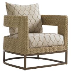 Outdoor Chair And Ottoman Special Needs Bath Tommy Bahama Living Aviano Wicker