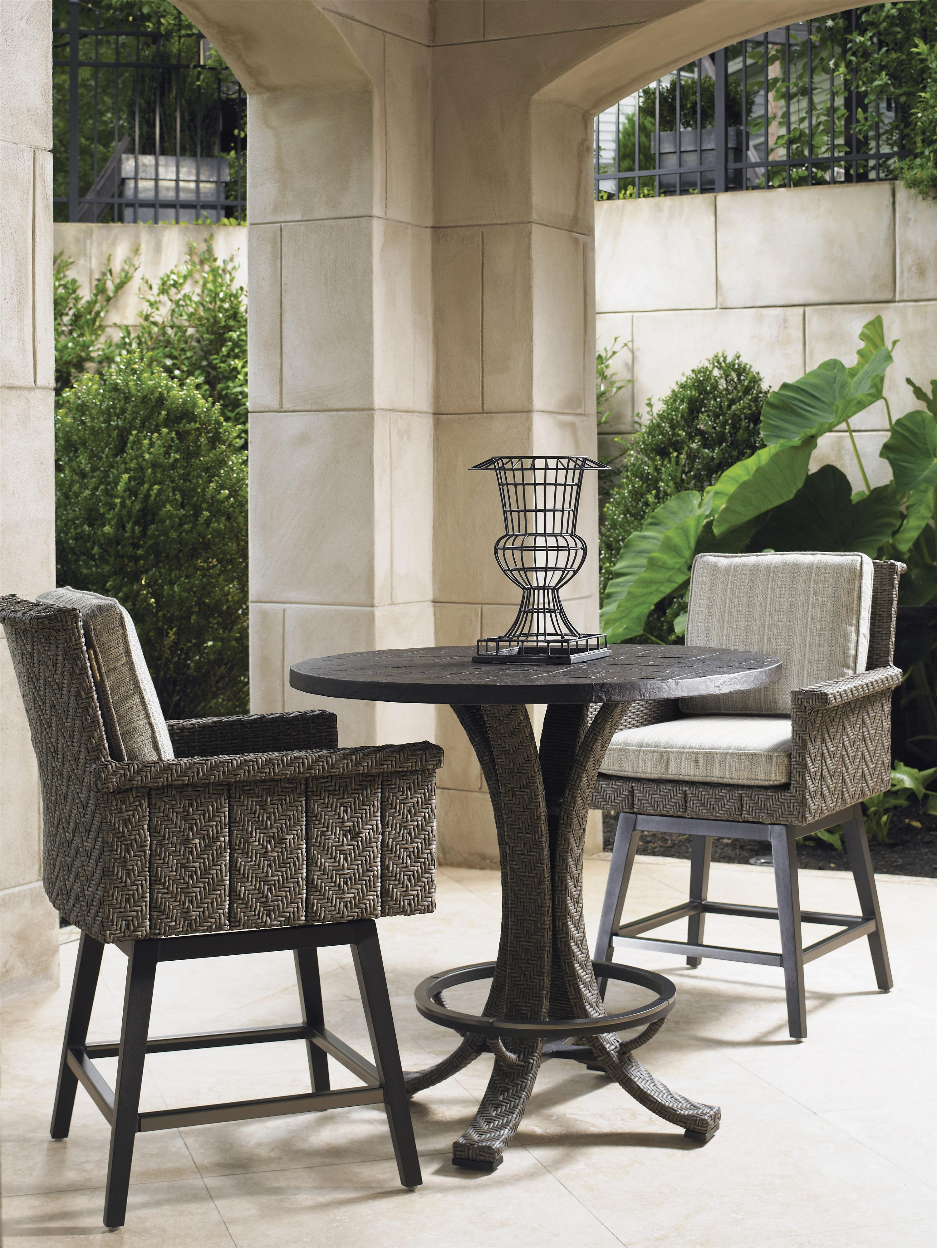 blue bistro chairs pedicure chair liners tommy bahama outdoor living olive low table