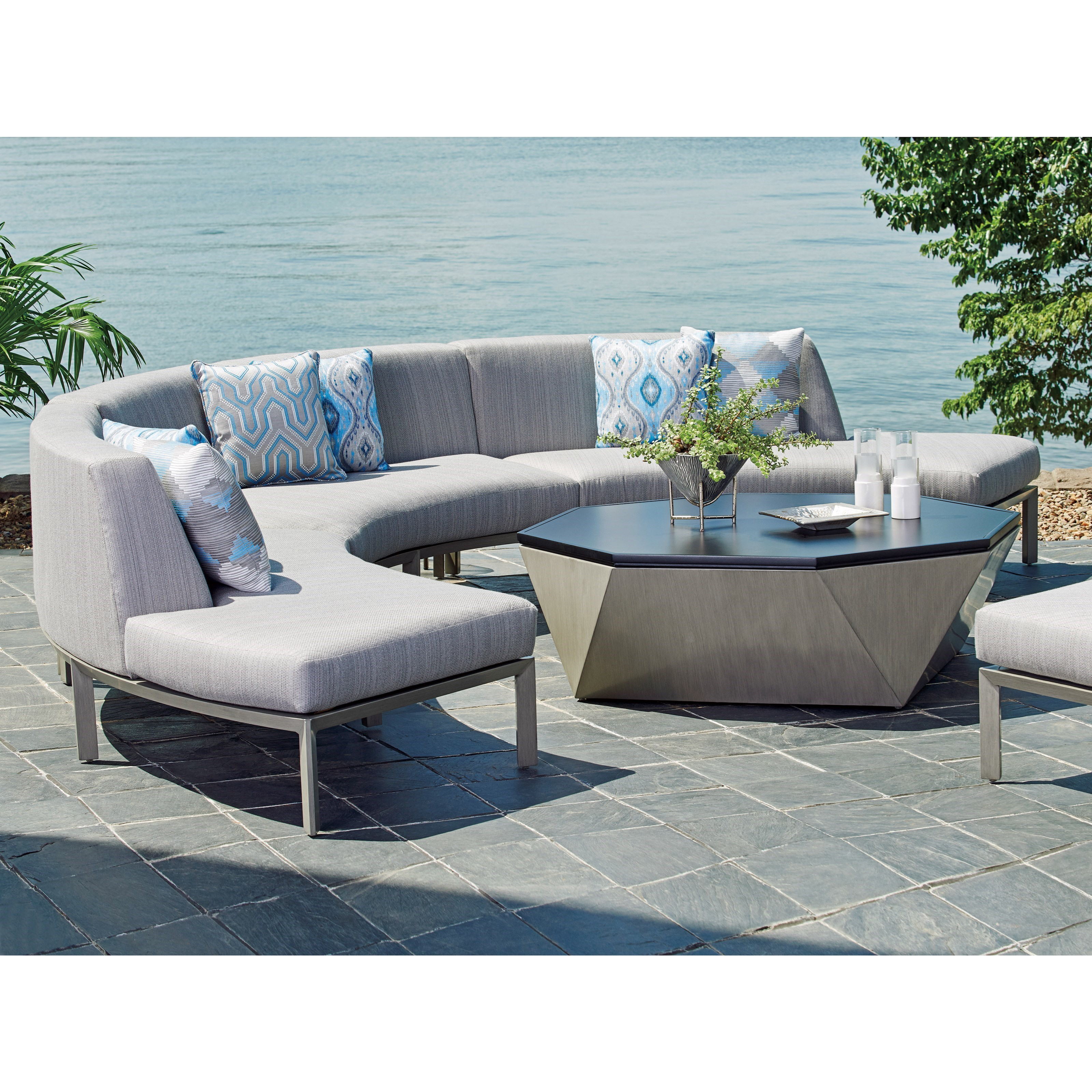 del mar custom sectional sofa best bed in dubai tommy bahama outdoor living three piece