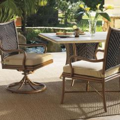 Wicker Swivel Outdoor Dining Chair Covers And Bows Rental Tommy Bahama Living Island Estate Lanai