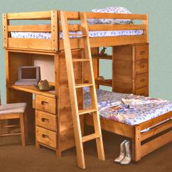 Loft Bed With Desk And Futon Chair Purple Velvet Living Room Chairs Trendwood Bunkhouse Twin Bronco Built