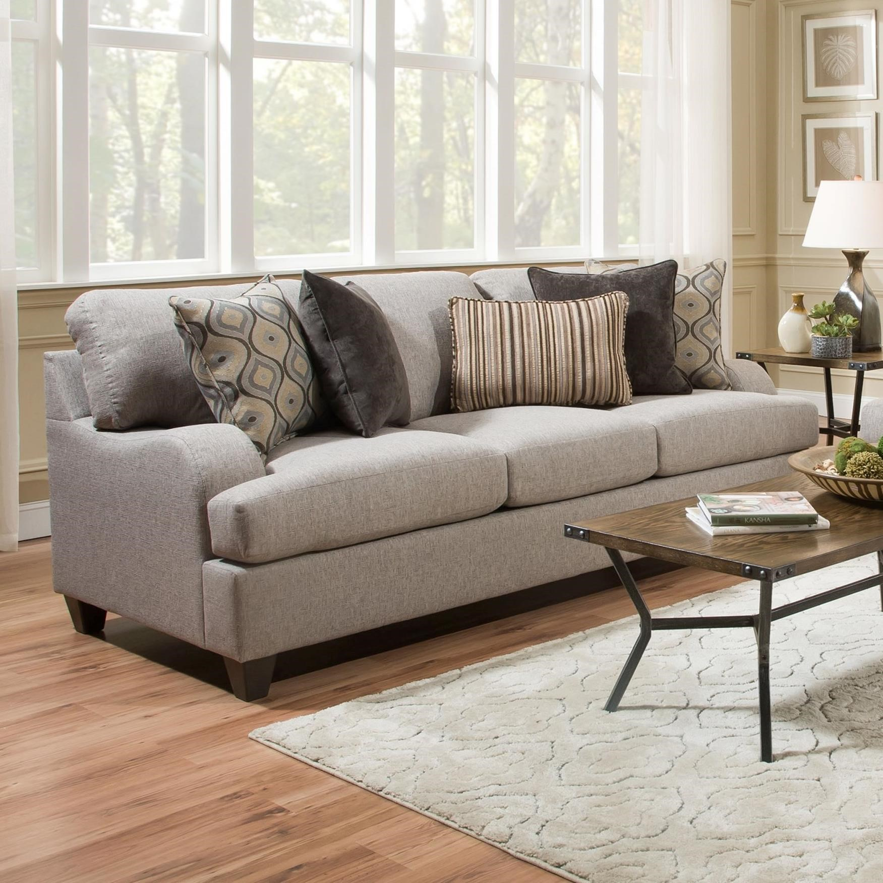 transitional style sectional sofas dark grey sofa room ideas united furniture industries 4002 4002sofa