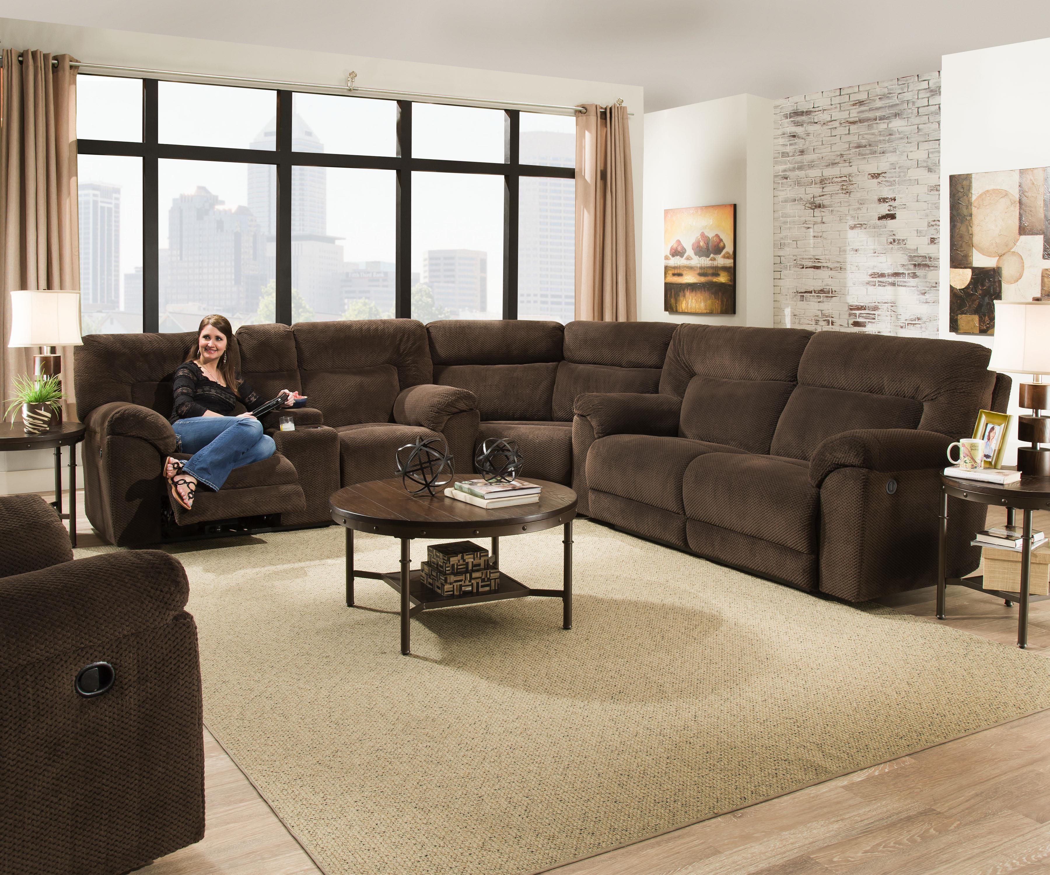 simmons small sectional sofa side tables sydney upholstery 50570 casual reclining