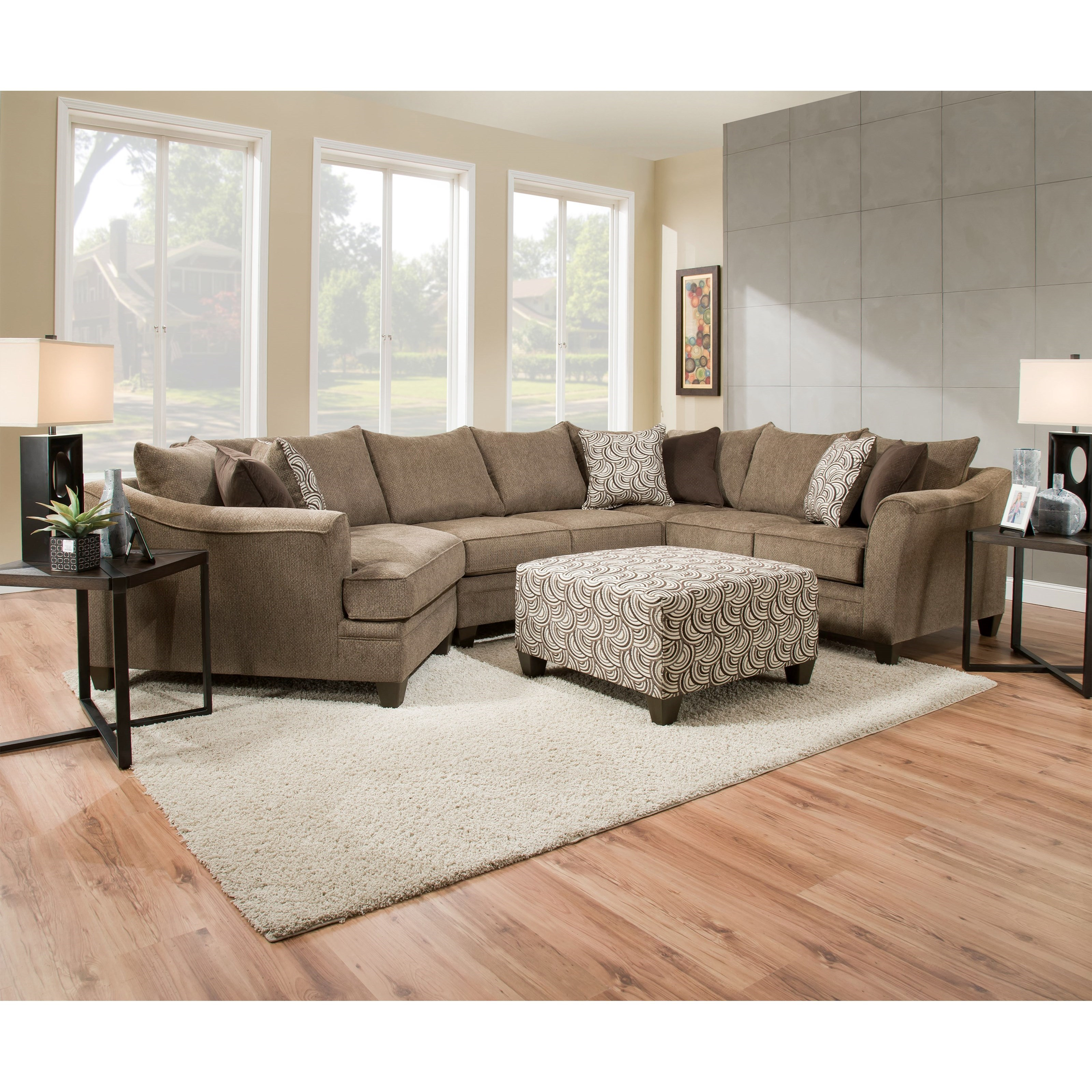 liberty 2 piece sofa and motion loveseat group in grey crate barrel leather simmons upholstery 6485 6485wedge 43armlesslvseat 43sofa