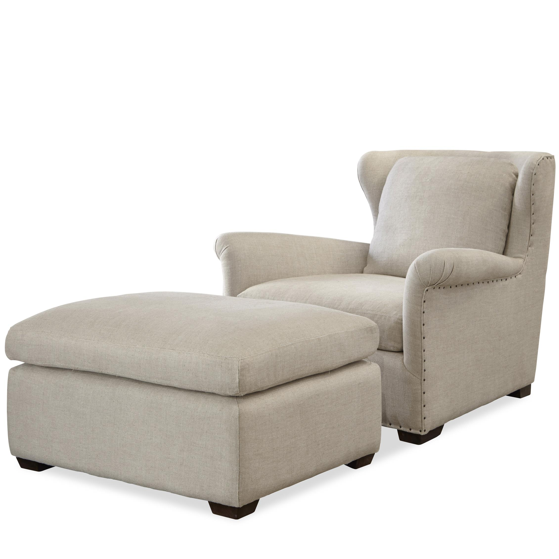 Chair And Ottoman Universal Haven Transitional Chair And Ottoman Set With
