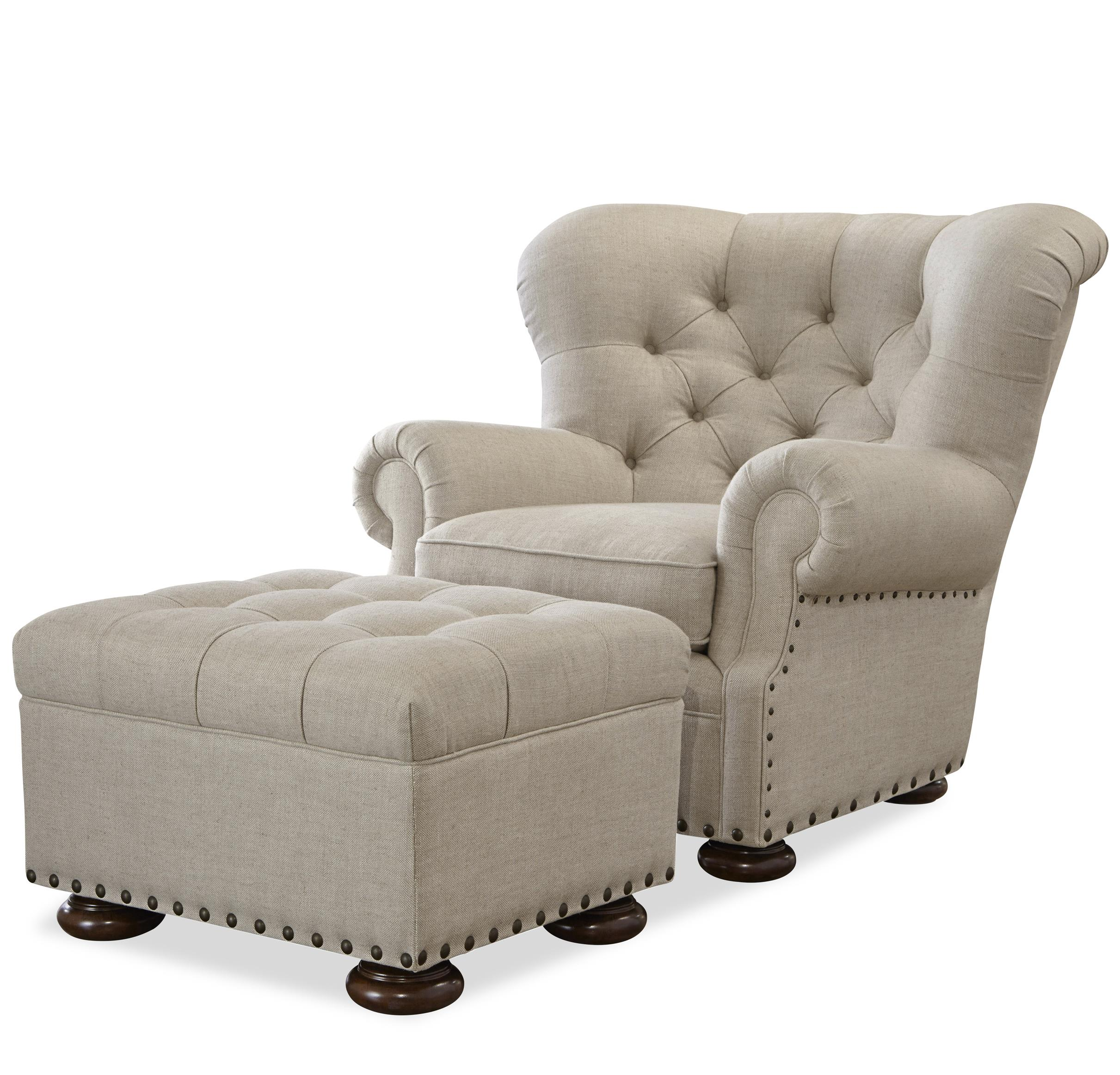 Chair And Ottoman Universal Maxwell Chair And Ottoman Set With Button