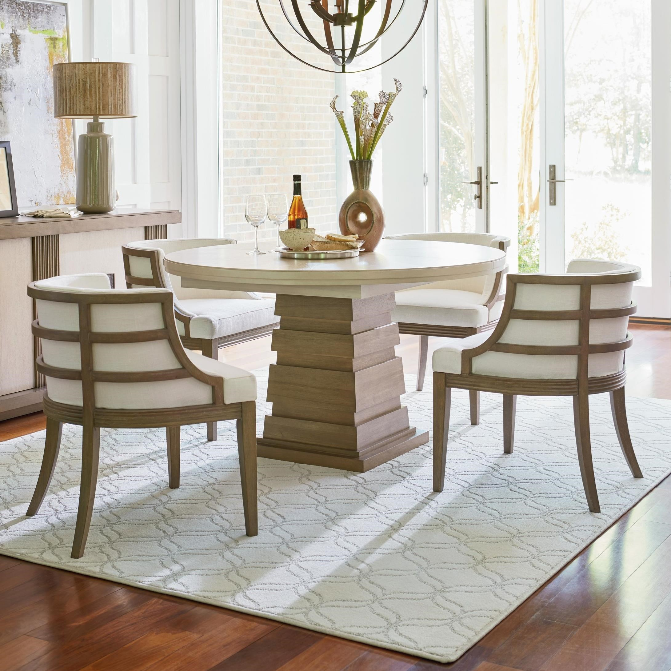 Round Table And Chair Set Universal Synchronicity 5 Piece Round Table And Chair Set