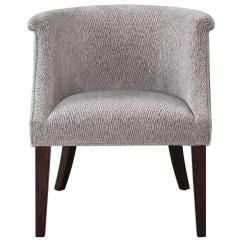 Barrel Accent Chair Bedroom Gray Furniture Arthure Back Becker