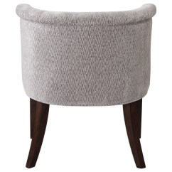 Barrel Accent Chair Grey Desk Furniture Arthure Back Becker