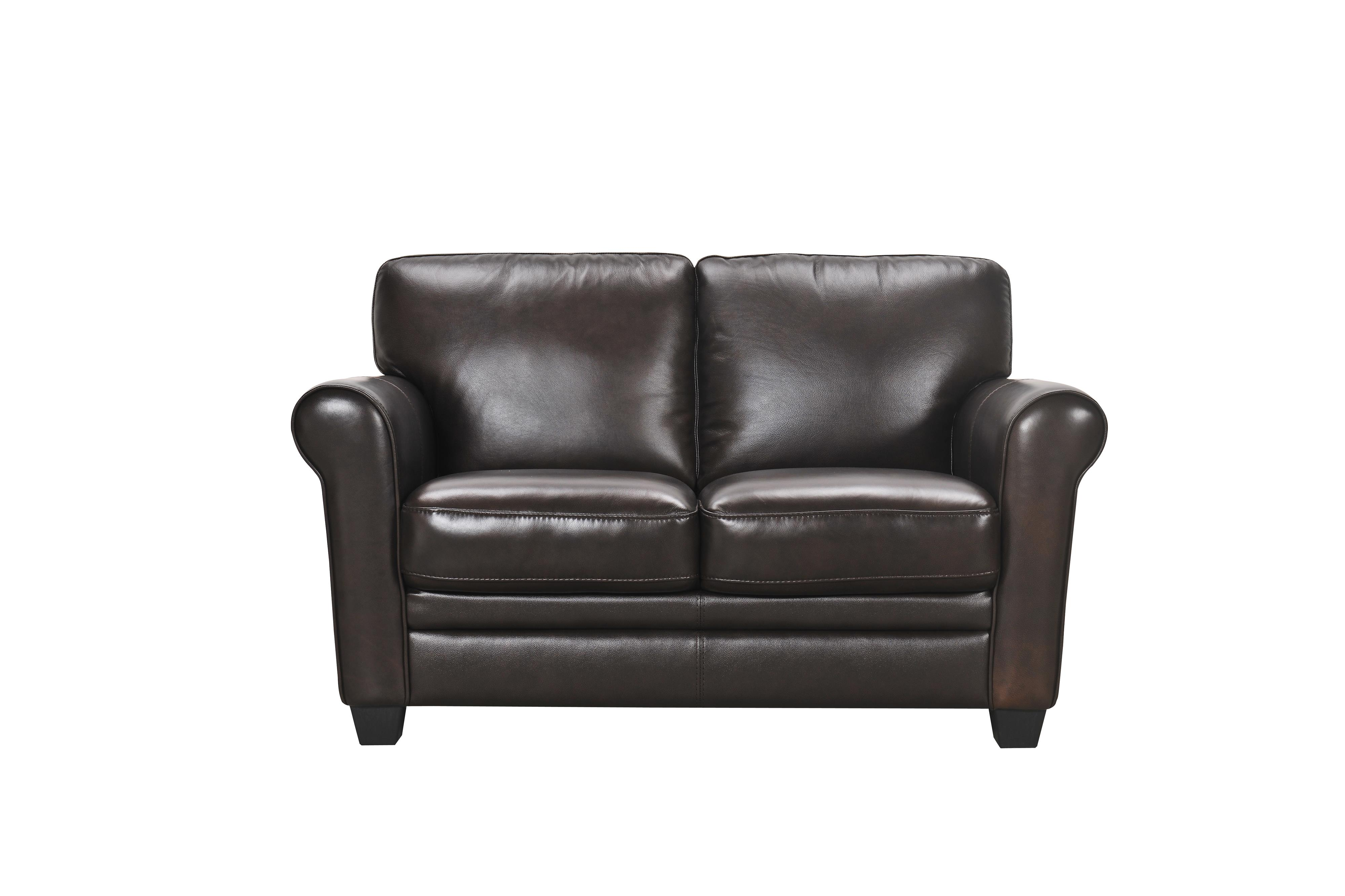 violino leather sofa stockists vacuum cleaning 30960 2p loveseat with rolled arms