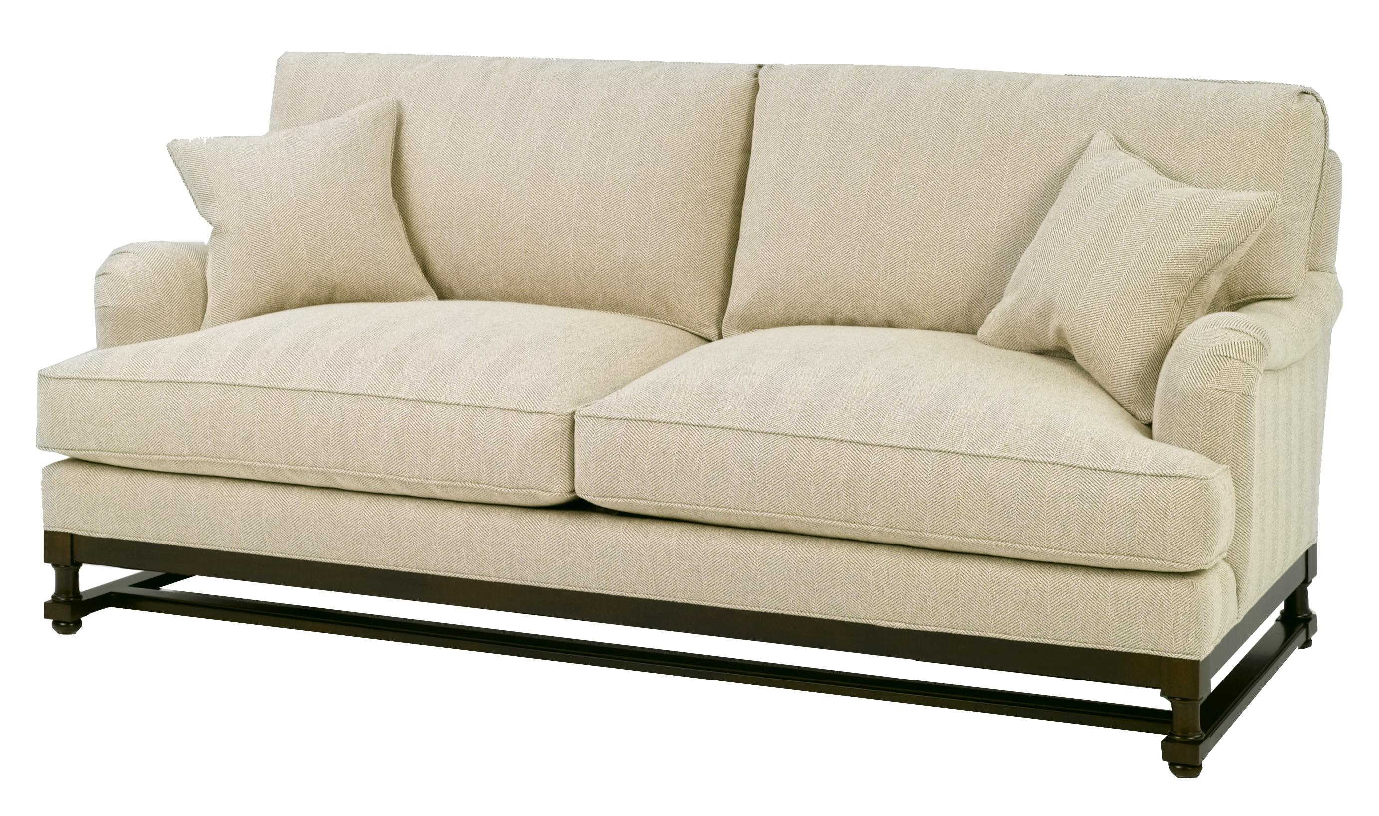 wesley sofa beige sectional bed hall 1902 stationary with wood base story
