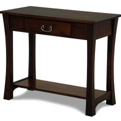 Solid Cherry Sofa Table On Credit Uk Woodbury Amish Built Rotmans