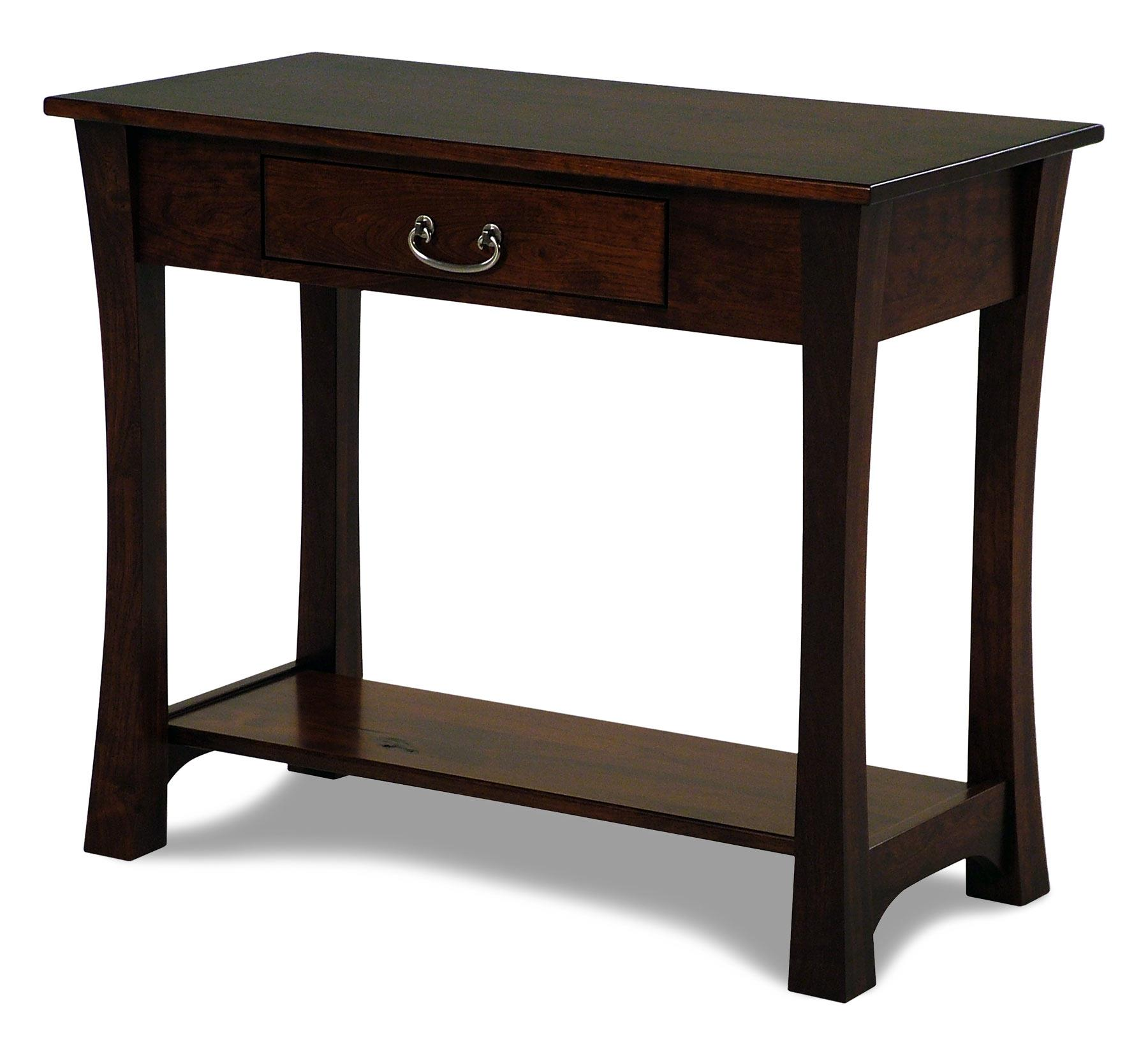 cherry sofa table with storage builder woodbury amish built rotmans