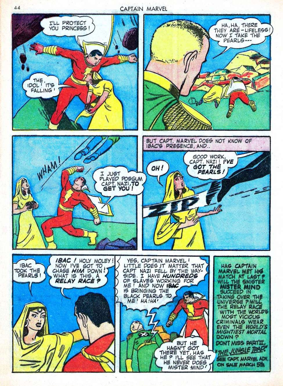 Comic Book Cover For Captain Marvel Adventures #22