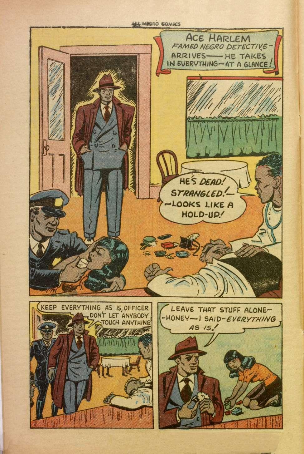 Comic Book Cover For All-Negro Comics #1