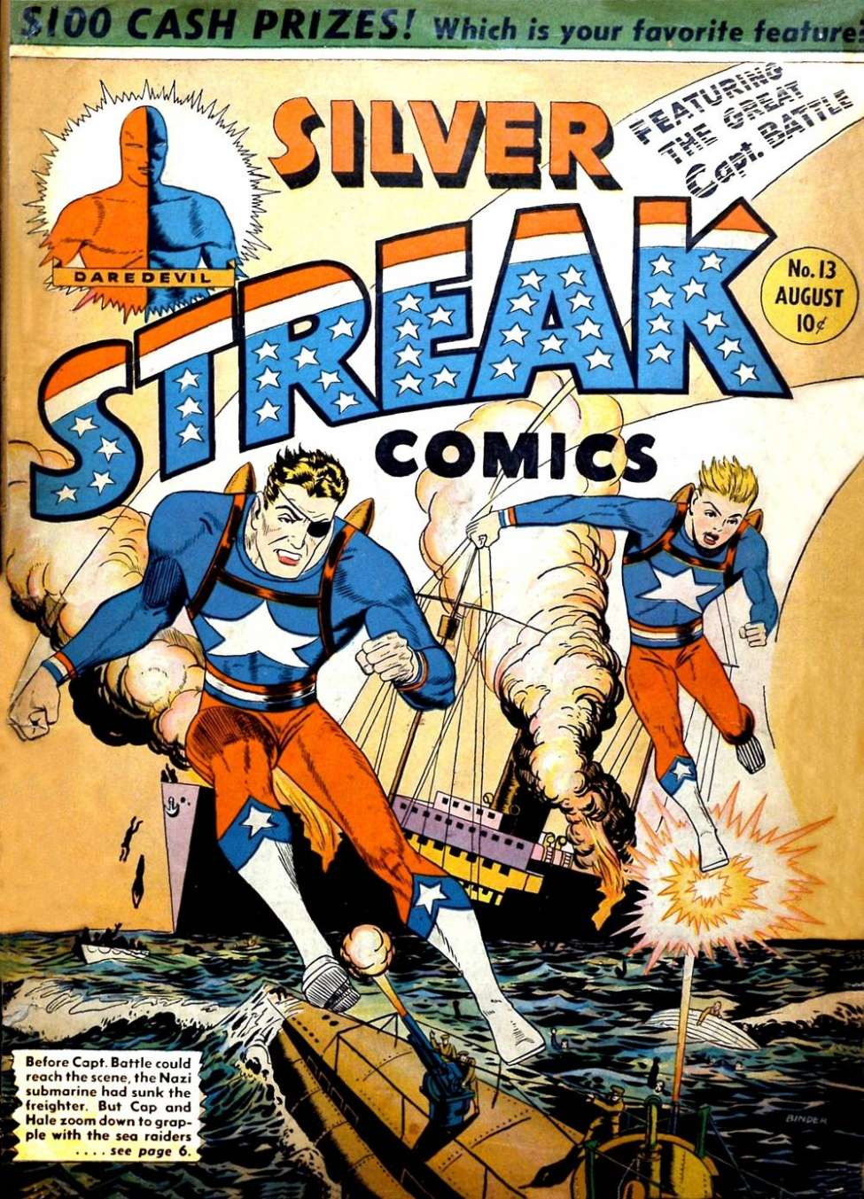 Comic Book Cover For Silver Streak Comics #13