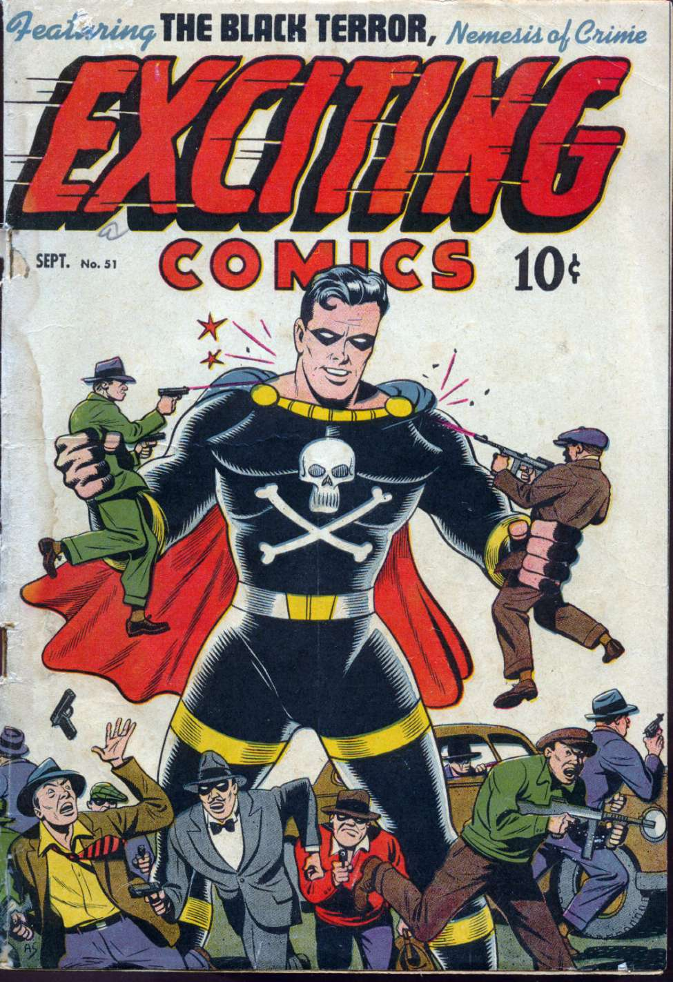 Comic Book Cover For Exciting Comics #51